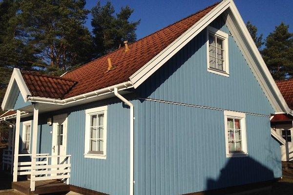 Schwedenhaus blau  Villa Blau am Useriner See - Ferienhaus in Userin mieten