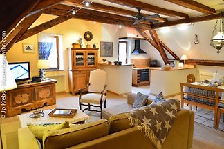 2 BR family holiday apartment in a historical house of the famous medieval village Riquewihr.