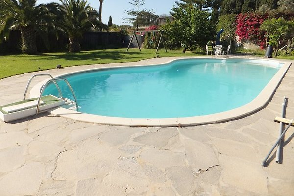 Der hauseigene private Pool