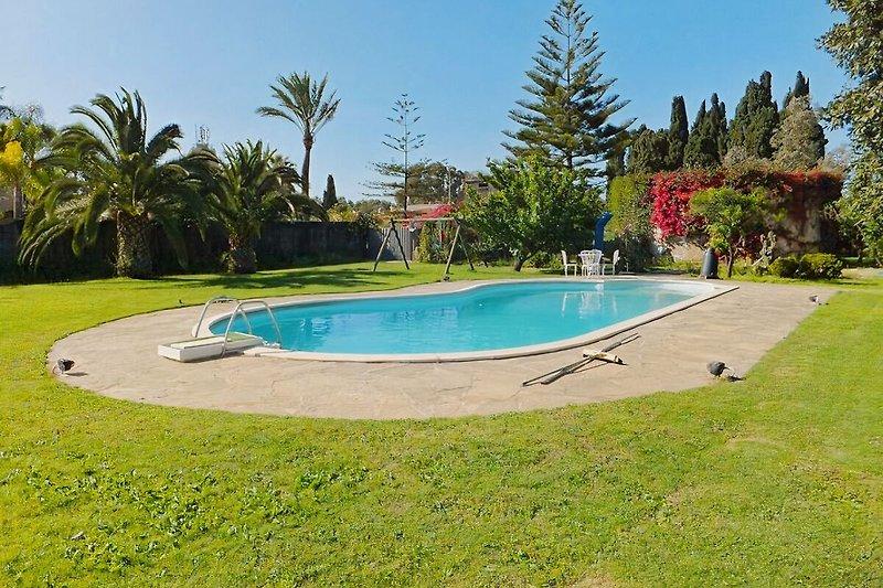 Pool mit Garten