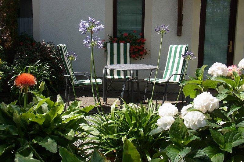 gemütlcher Platz auf der Terrasse