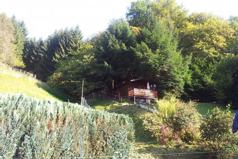 Die Hütte ist über 35 Stufen erreichbar..