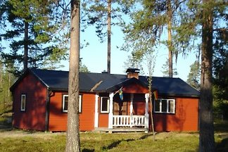 House on the salmon river in Lapland