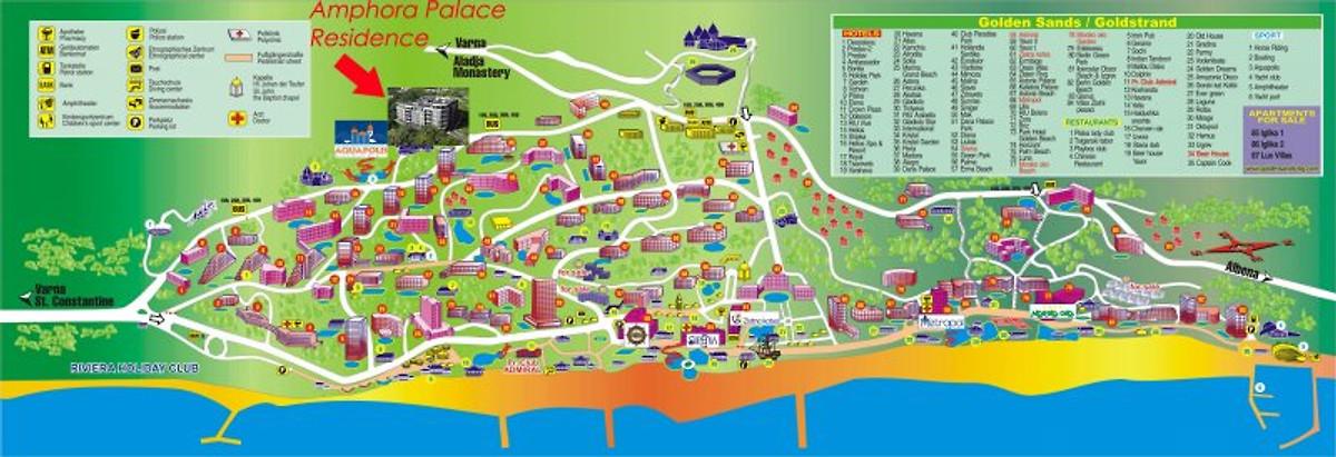 Карта Сиде с отелями на русском языка  Как найти отель на