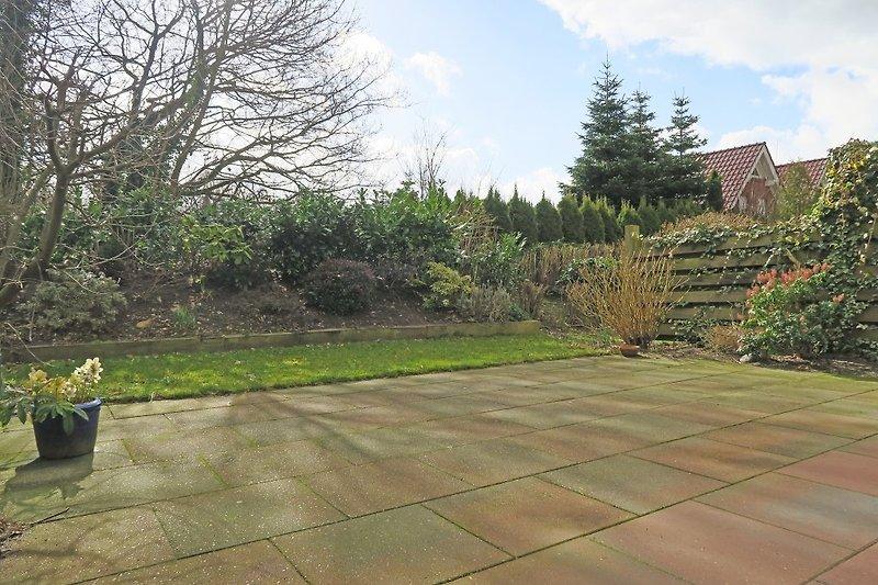 Terrasse und Garten Wohnung Seestern