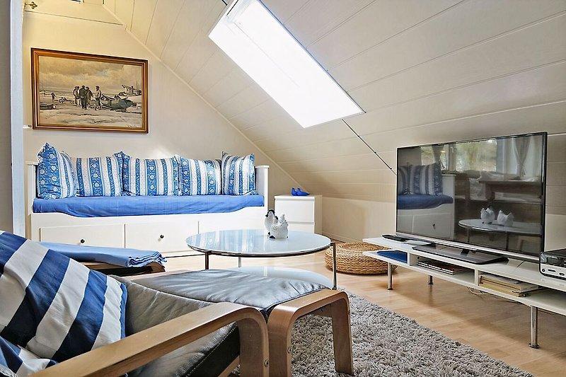 Haus 28 - Wohnung 4 Wohnbereich Doppelbett (ausziehbar)