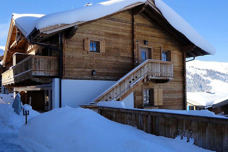 Skihütte Silberleiten im Winter