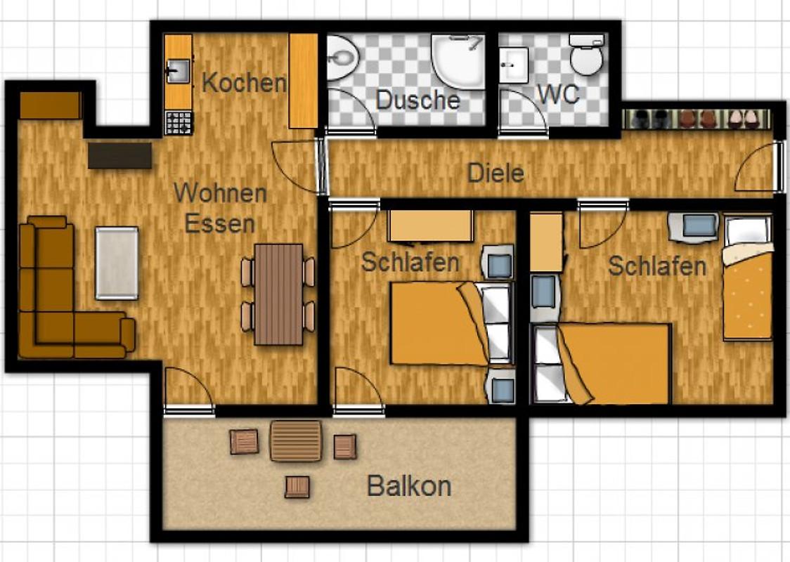 ferienwohnung gerda b hler ferienwohnung in hechlingen. Black Bedroom Furniture Sets. Home Design Ideas