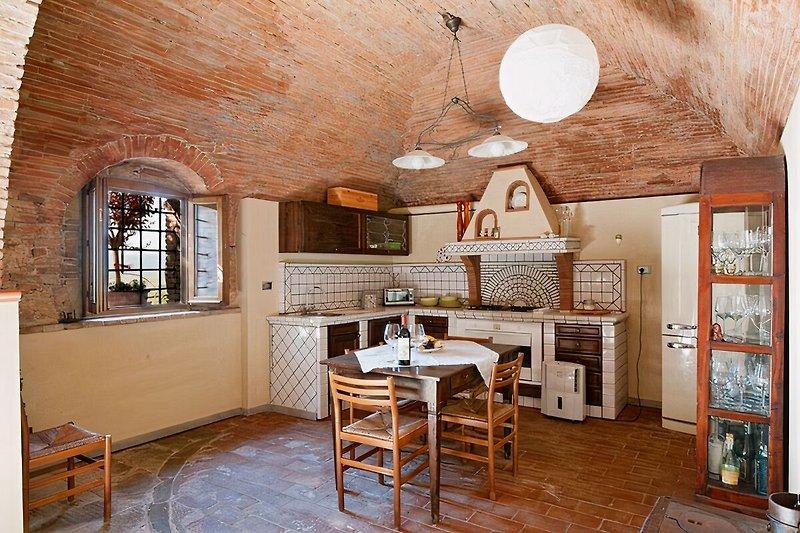 Die gut ausgestattete Wohnküche
