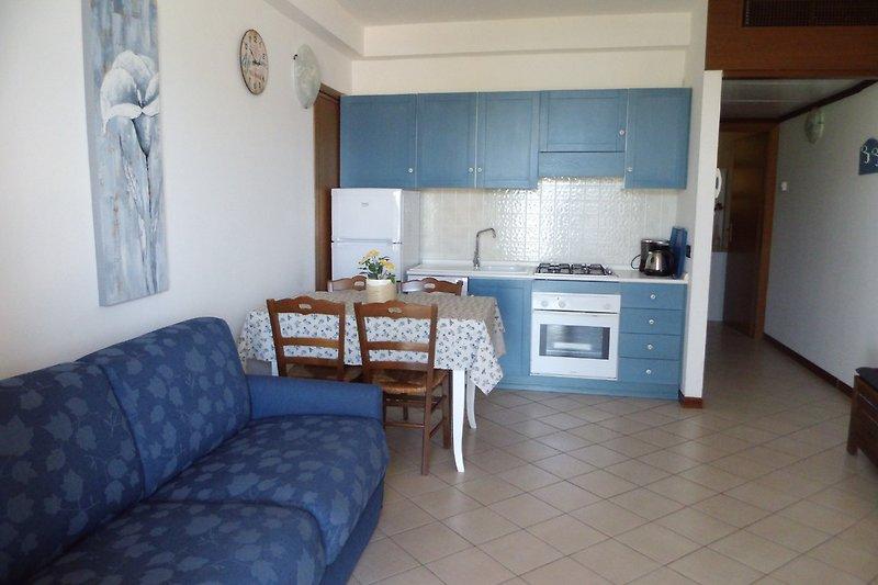 Die Küche im Wohnraum