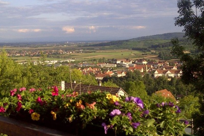 Blick vom Balkon / Vue du balcon