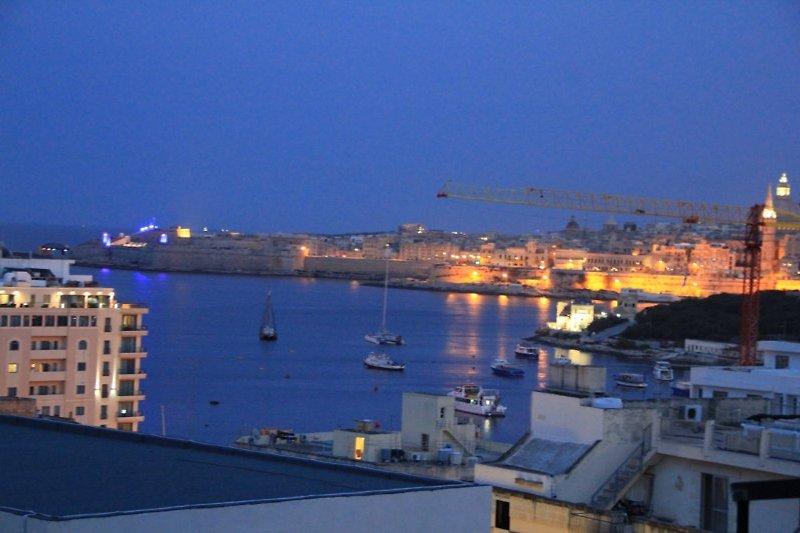 Blick in der Nacht von der hinteren Terrasse