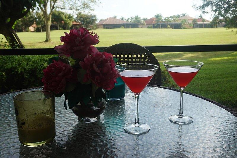 Sued Terrasse Golfplatz Blick