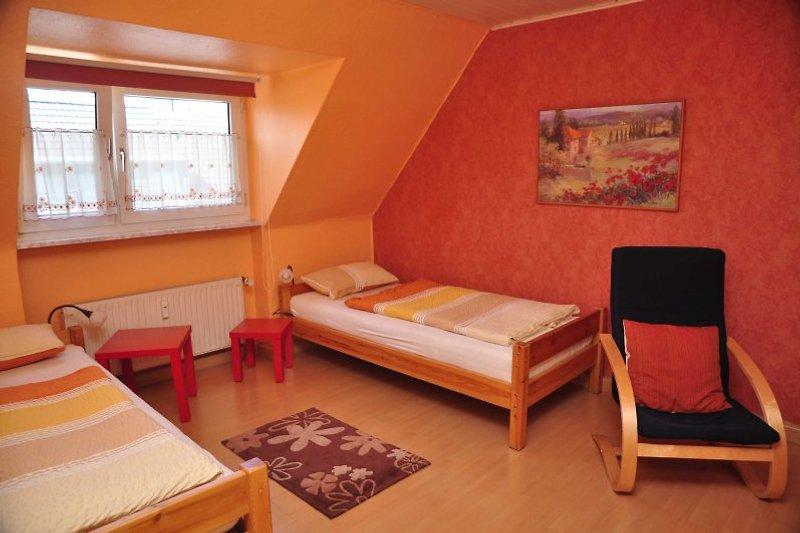 Die Betten können als Doppelbett zusammengestellt werden