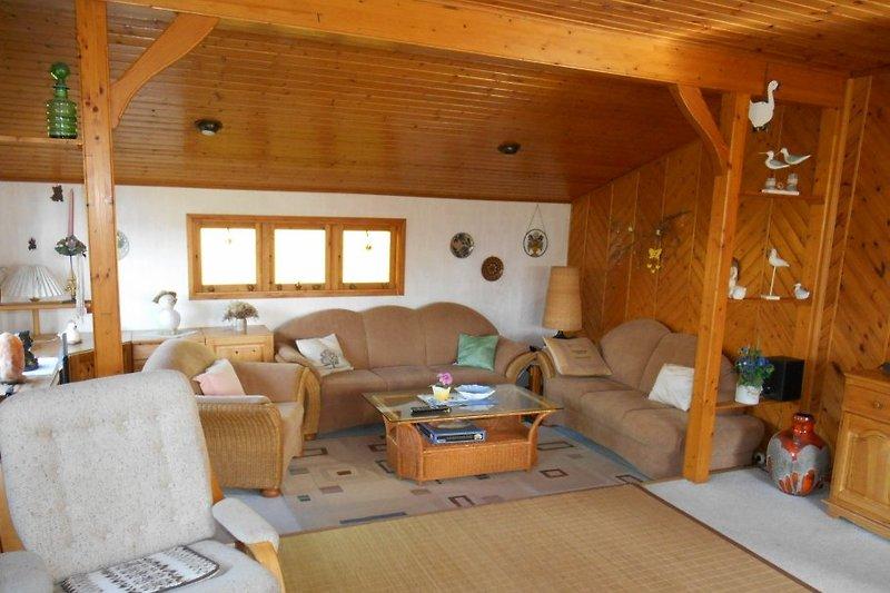 Wohnzimmer im Haus Möwennest