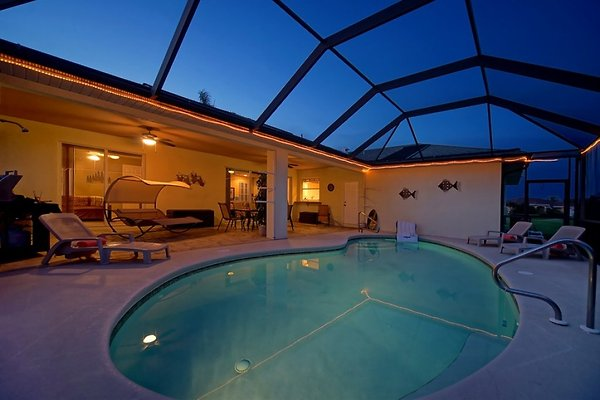 Pool & Patio by Night