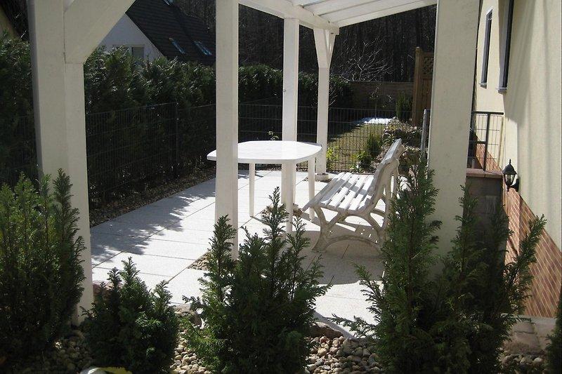 Terrasse für Fewo GÖHREN und SELLIN
