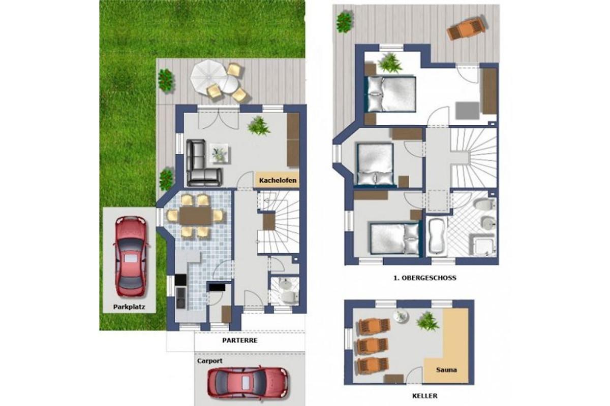 Plan Ferienhaus Alex Top Gabriel Und Top Anna Lena