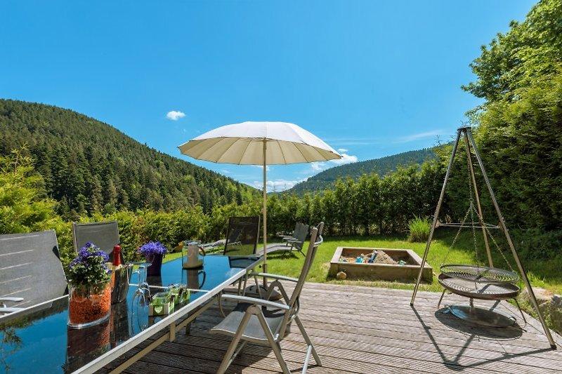 Blick in den Schwarzwald vom Ferienhaus