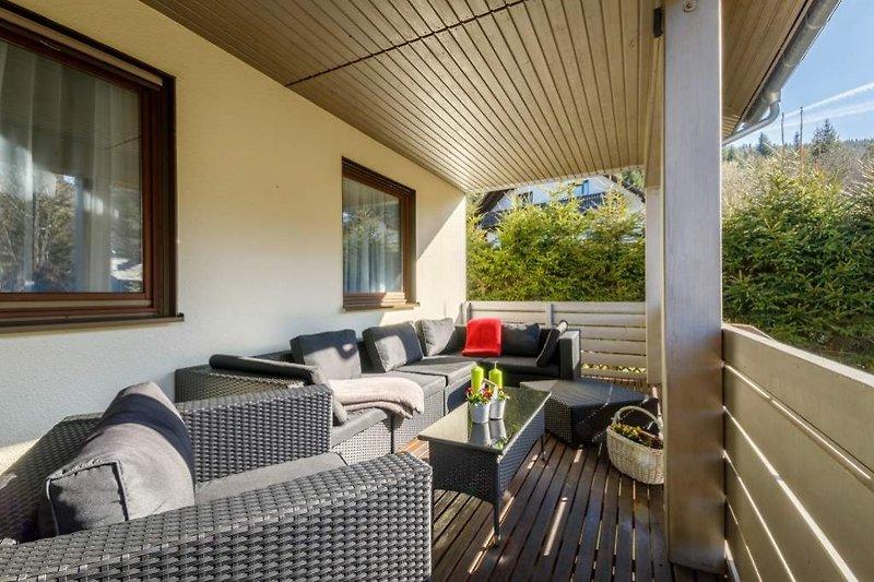 Balkon mit Loungebereich