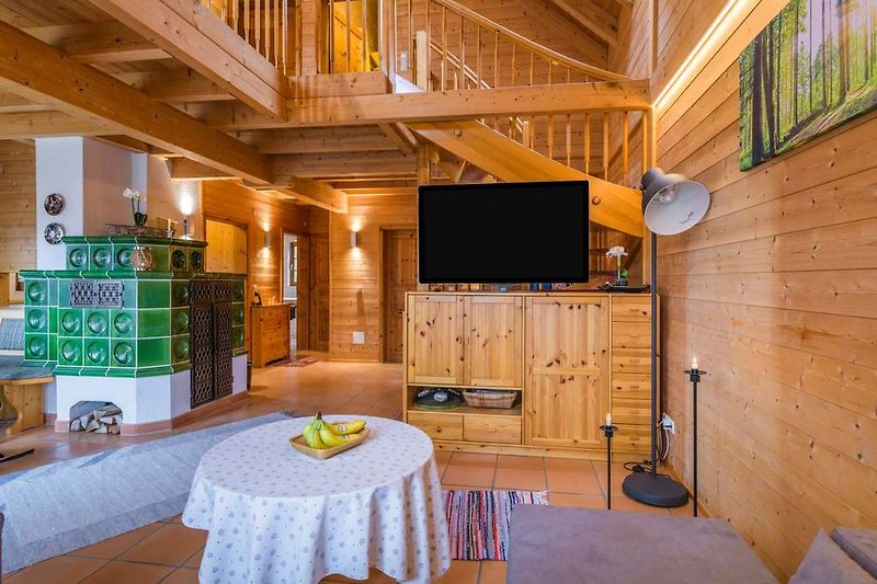 Holzhaus Oberbrändi Wohnzimmer