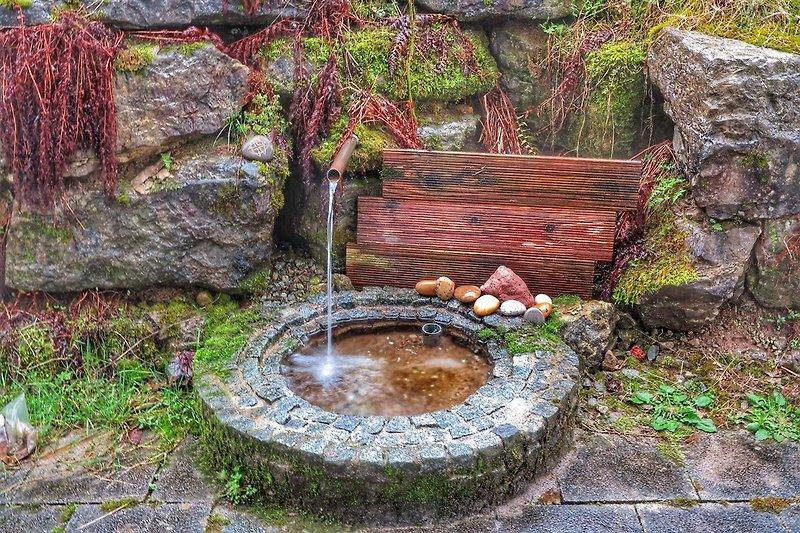Kleiner Brunnen am Haus