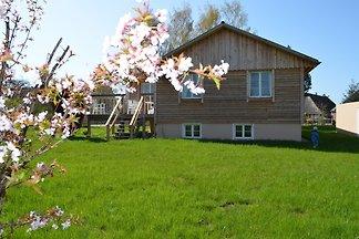 Romantisches Holzhaus mit Sauna