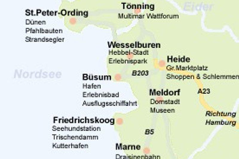 Karte mit Sehenswürdigkeiten
