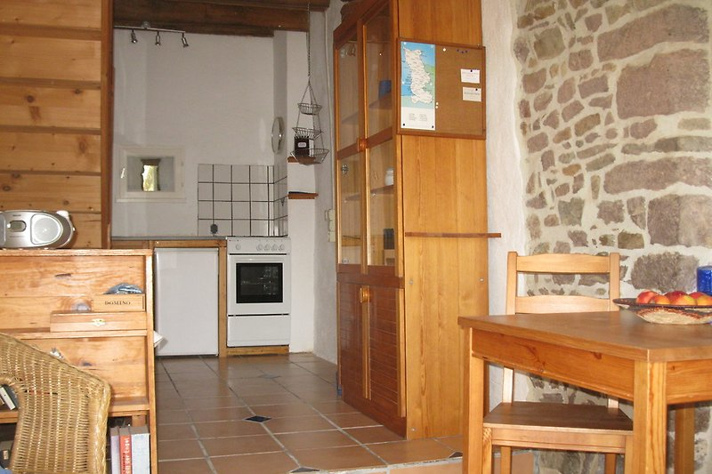 Küche, Ess- und Wohnzimmer