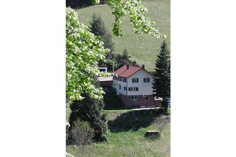 Das Ferienhaus von der anderen Talseite