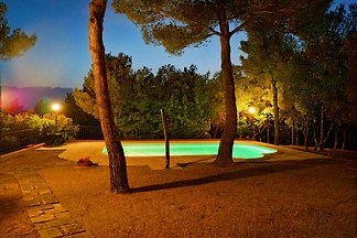 Villa with pool and eingenzaeunte Land, about 10 km from the sea of the Etruscan coast (Castiglioncello)