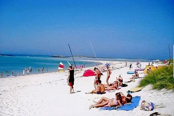 la plage à 100 mètres de la maison