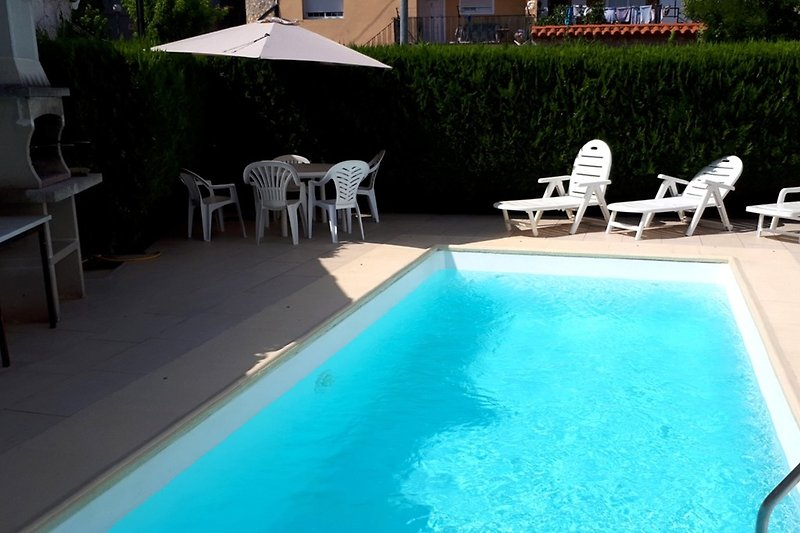 Pool terrace and BBQ