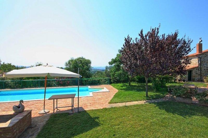 Podere Riccardo - Pool und Garten