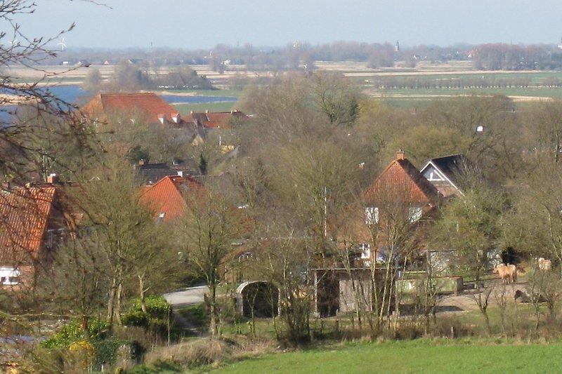 Aussicht auf das Dorf