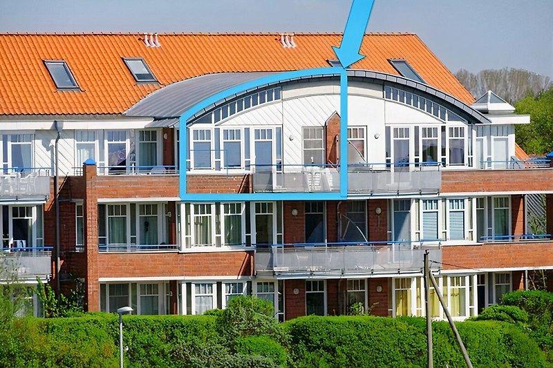 Wohnung De Duuv mit Nordseeblick