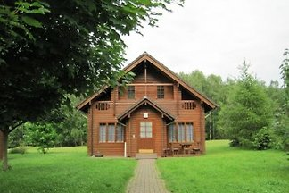 Wooden cottage on Silver Lake
