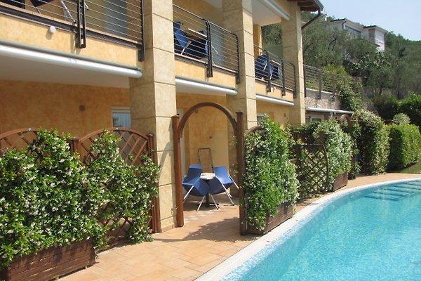 Rosmari studio bij het zwembad met terras accommodatie in brenzone huren - Terras met zwembad ...