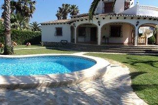 Villa Rosa sur la plage Denia