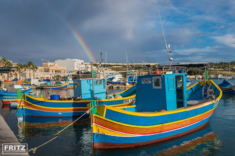 Luzzi the colourful fisherboats
