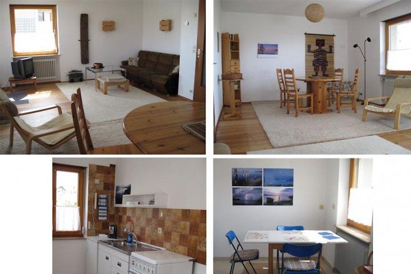 ERDGESCHOSS: Wohn- und Esszimmer und Küche