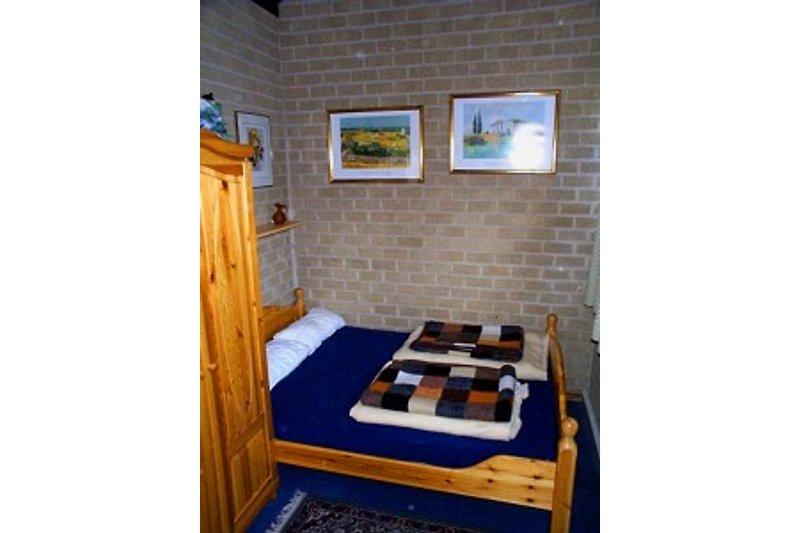 Ein weiteres Doppelbett im Obergeschoss
