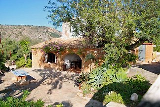 300 years old finca on a  sqm of private land   3 bedrooms, 2 bathrooms, kitchen, living room, pool, BBQ, children's playground, natural garden, pond, parking for cars