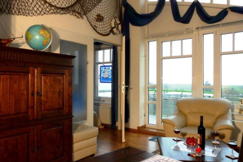 Wohnzimmer und herrlicher Ausblick