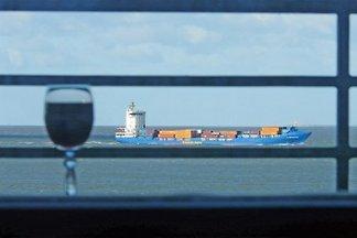 Meerblick Weltschifffahrtsweg