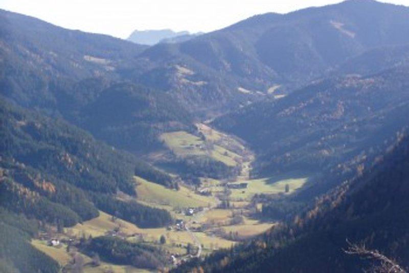 Panoramabild vom Johnsbachtal