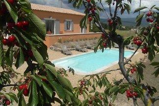Villa Gargas im Luberon Pool Blick