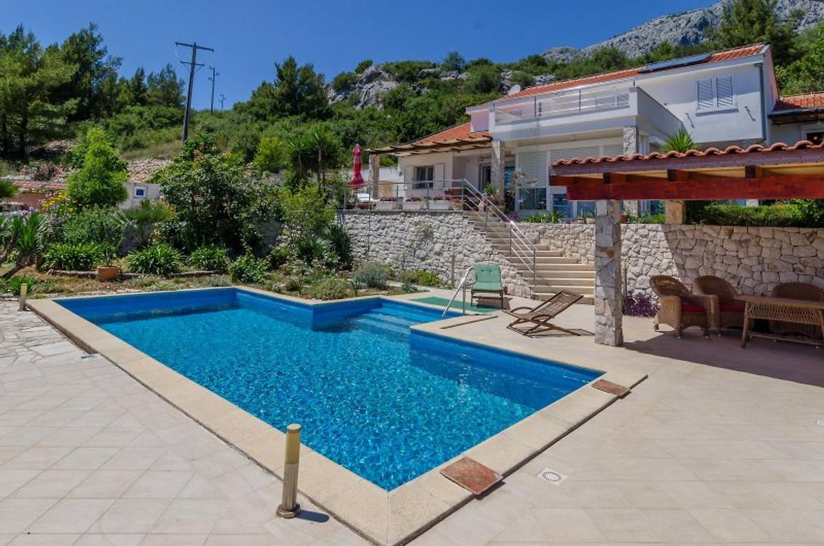 Moderna villa con piscina appartamento in orebic affittare - Villa moderna con piscina ...
