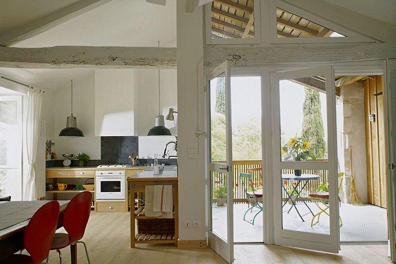 Küche und Pergola La Grange