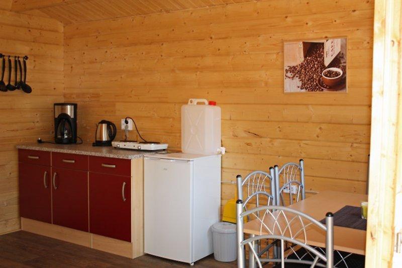 Kochecke in der Blockhütte